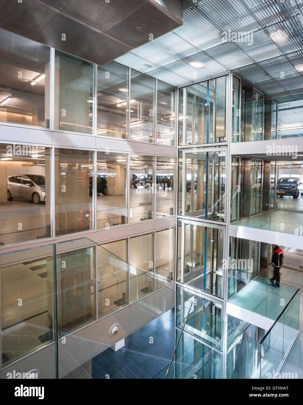 Parking floors are located between ground floor foyer and office