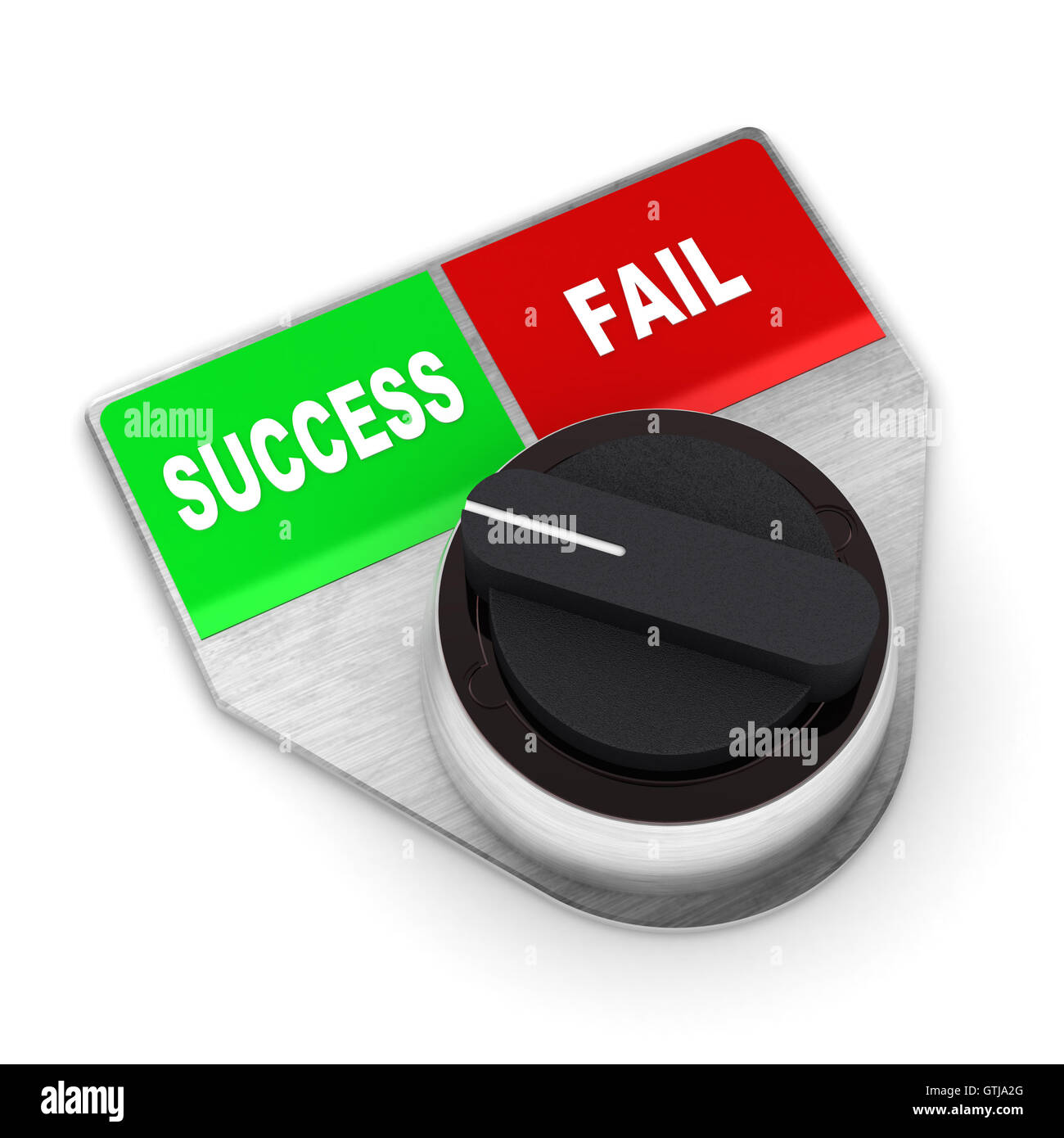 Success Vs Fail Switch Stock Photo