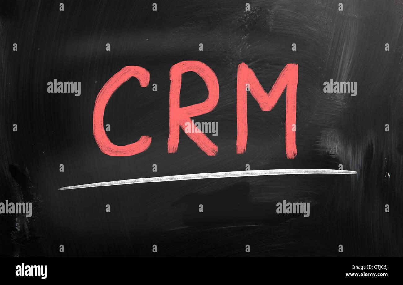 customer relationship management (CRM) concept - Stock Image