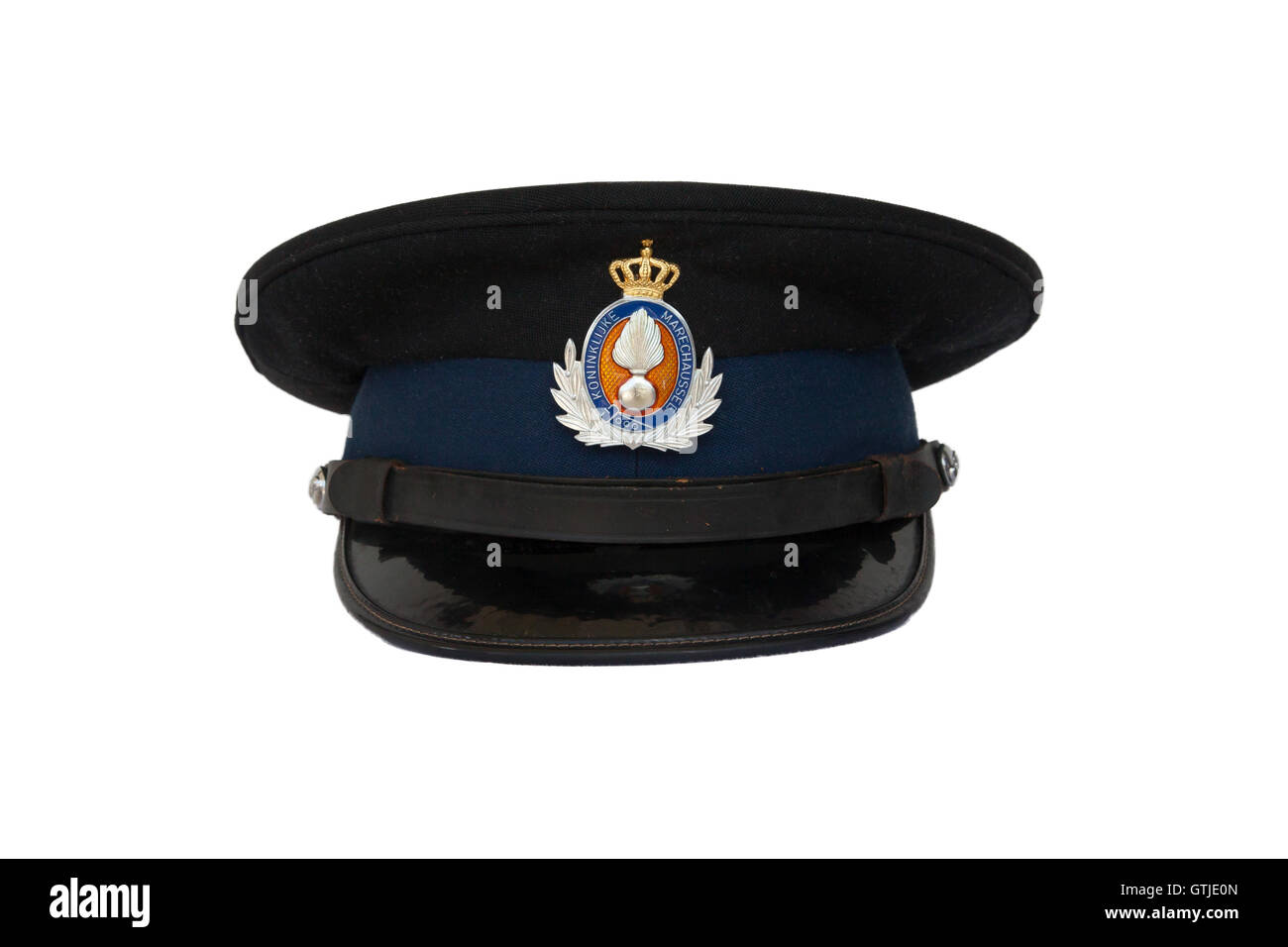 Clothing of the dutch military police - Stock Image