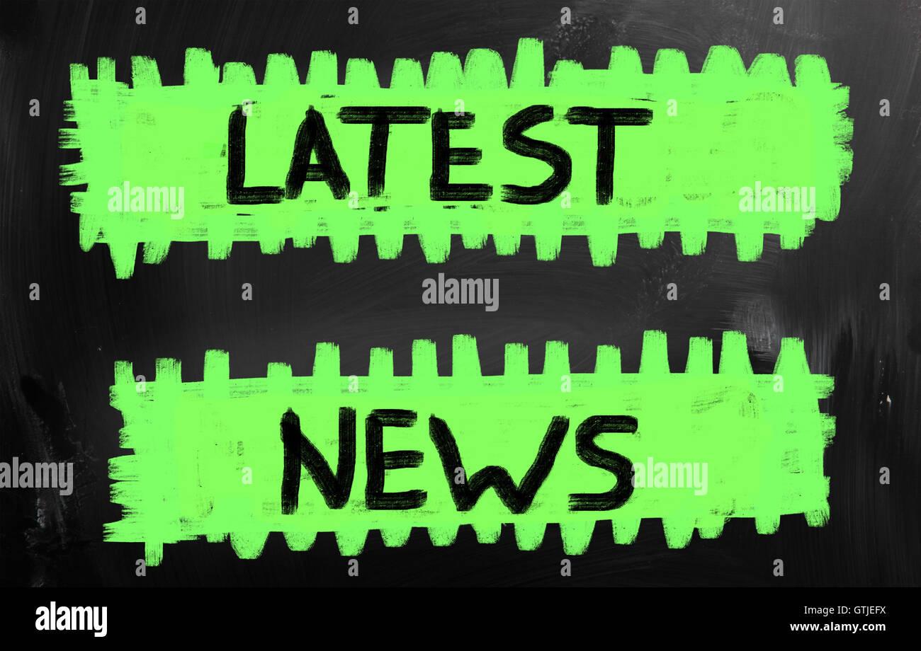 Latest news - Stock Image