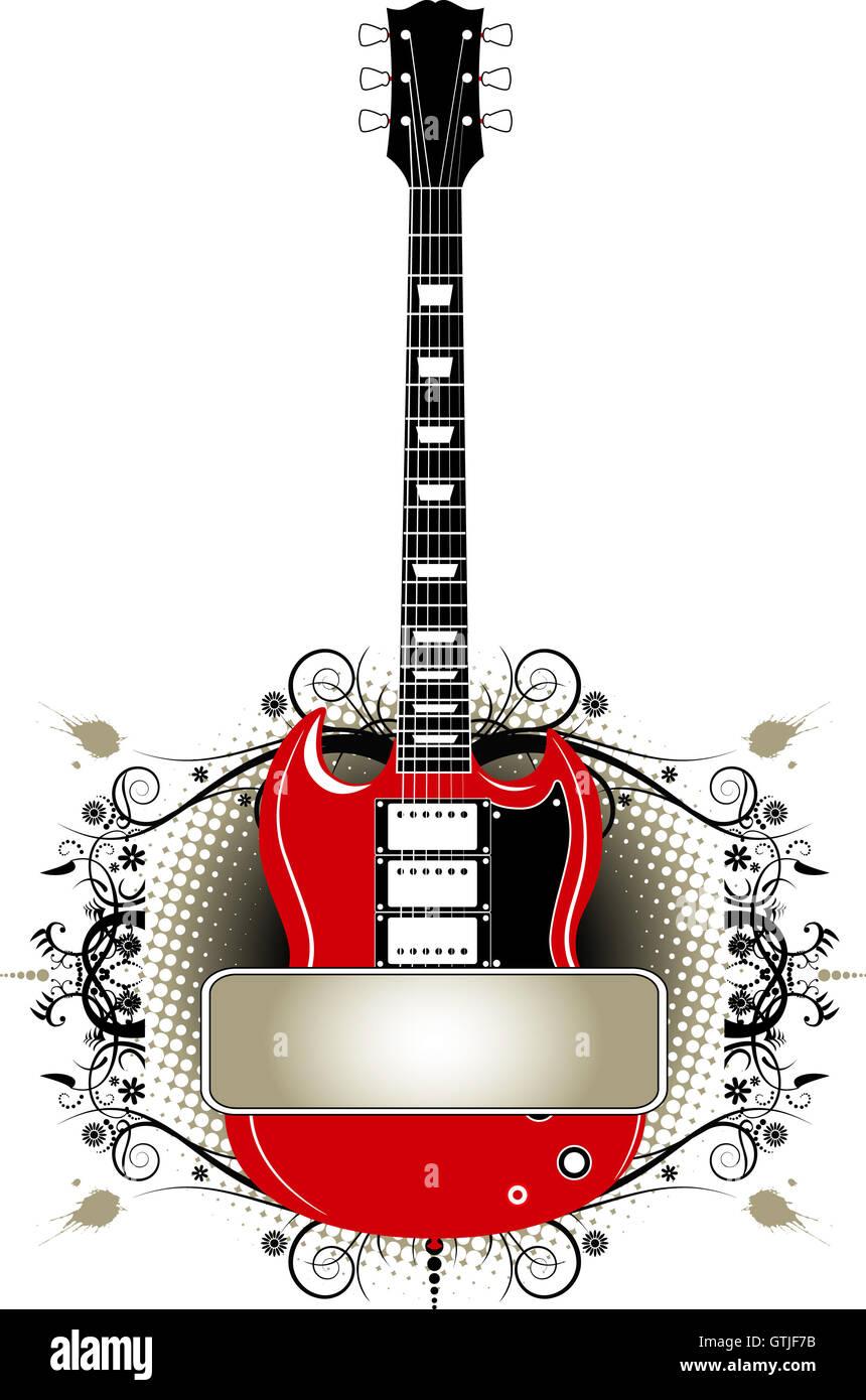 Guitar Vector Banner Design Template Stock Photo Alamy