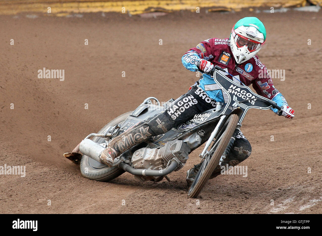 Lee Richardson in action for Lakeside - Ipswich Witches vs Lakeside Hammers - Sky Sports Elite League Speedway at - Stock Image
