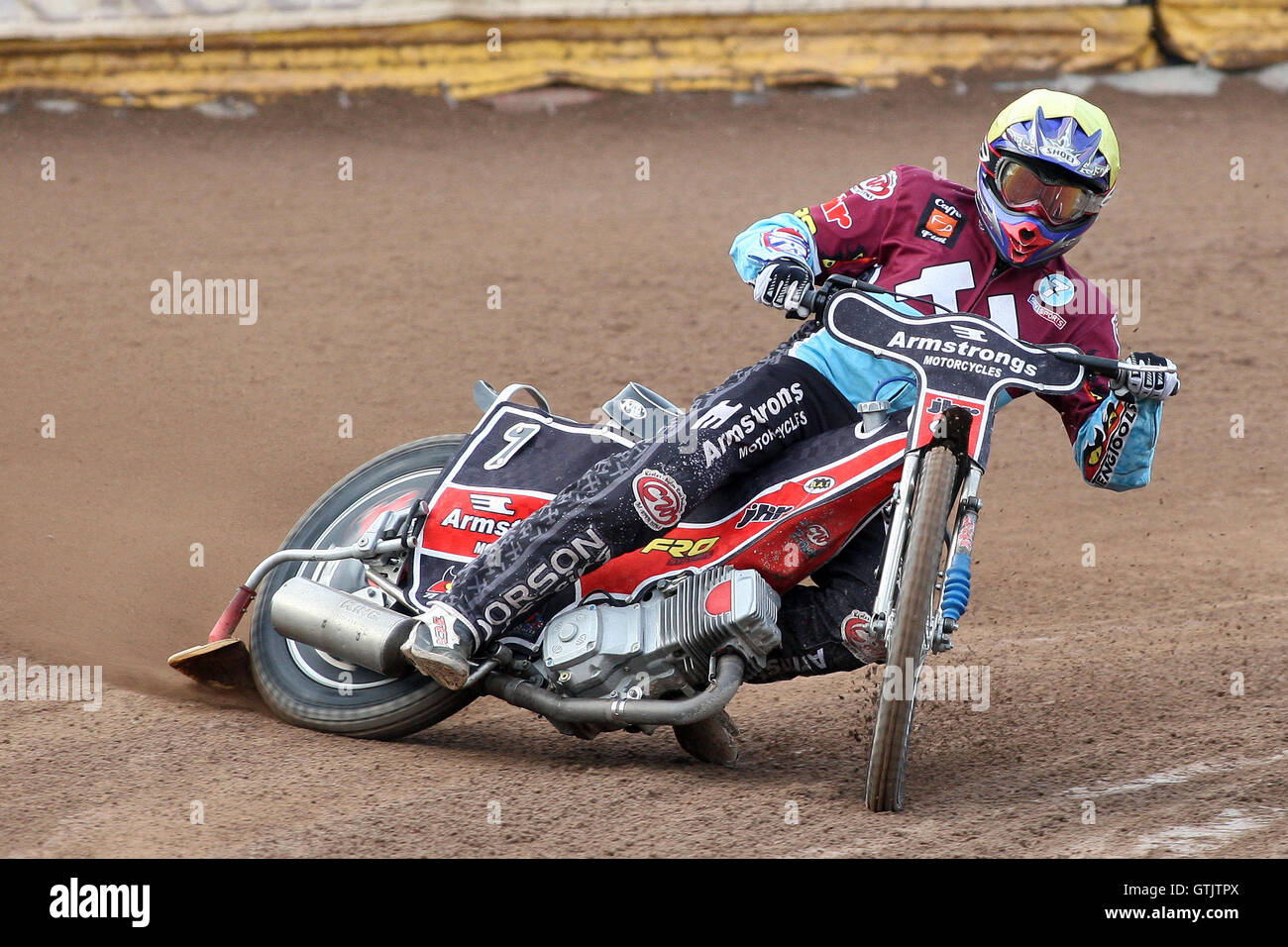 Stuart Robson in action for Lakeside - Ipswich Witches vs Lakeside Hammers - Sky Sports Elite League Speedway at - Stock Image