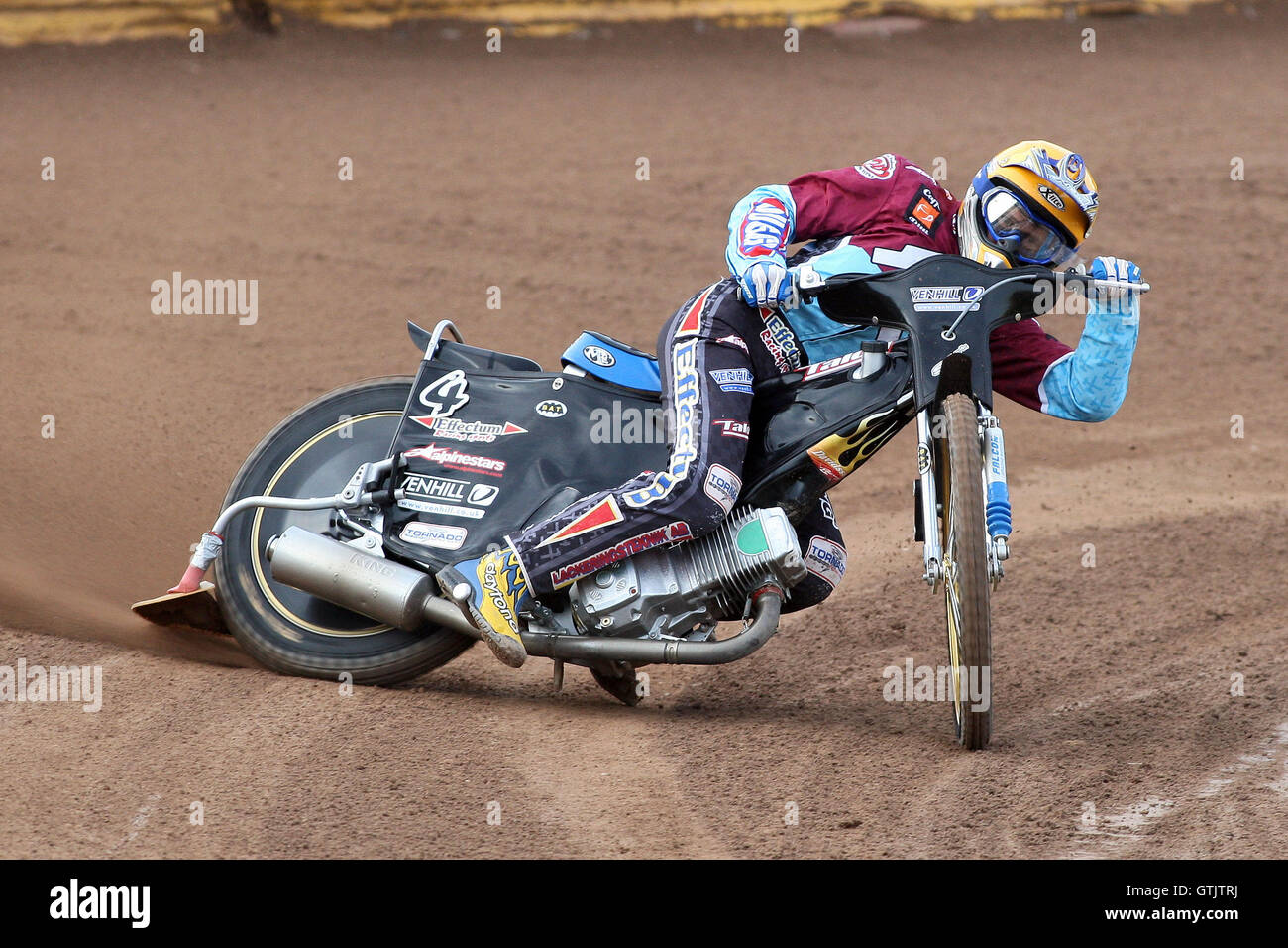 Jonas Davidsson in action for Lakeside - Ipswich Witches vs Lakeside Hammers - Sky Sports Elite League Speedway - Stock Image