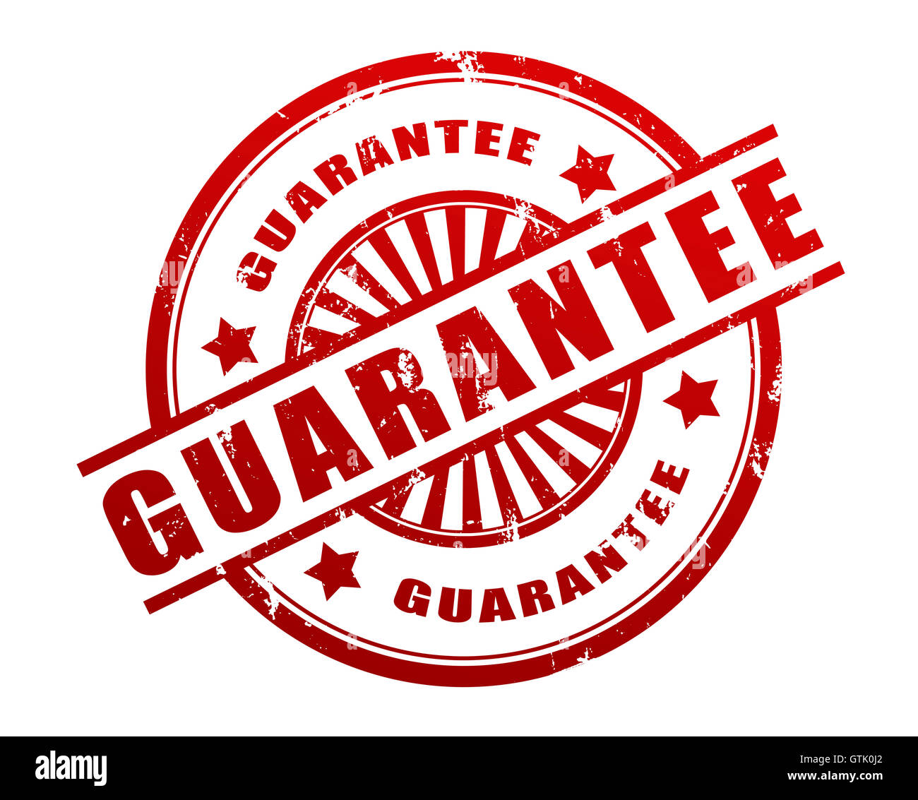 guarantee stamp concept       3d illustration - Stock Image