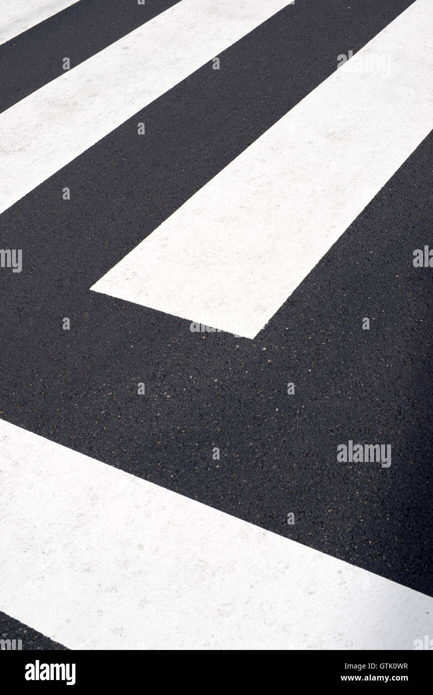 Zebra crossing without anyone crossing it. - Stock Image
