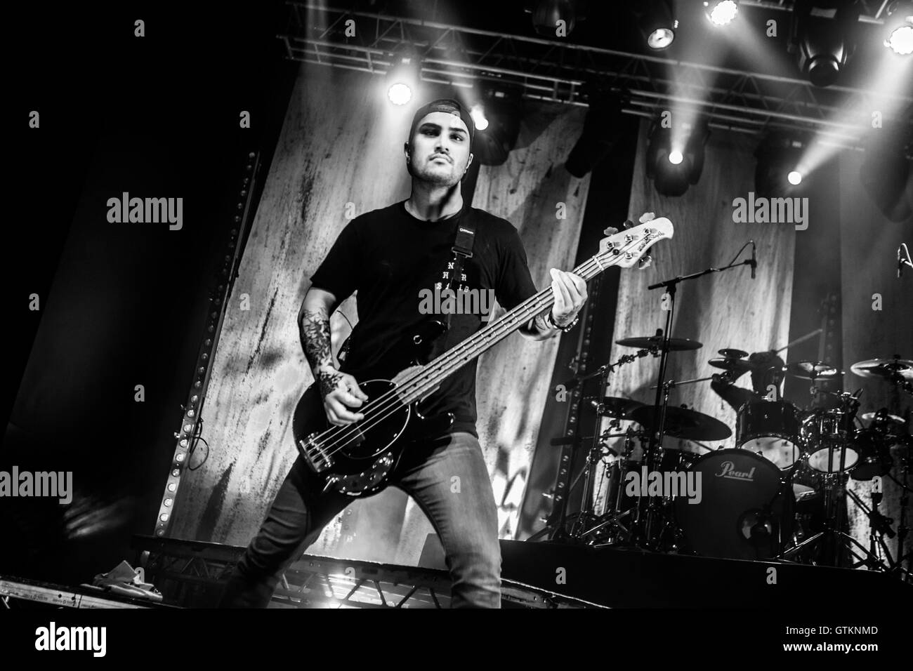 Metalcore band Parkway Drive performs live in Milano, Italy - Stock Image