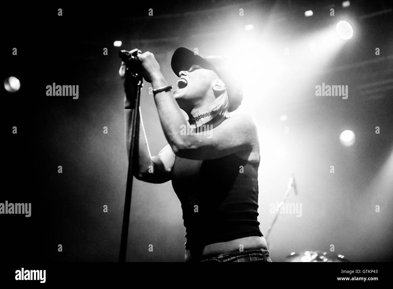 Australian rock band Tonight Alive performs live in Milano, Italy - Stock Image