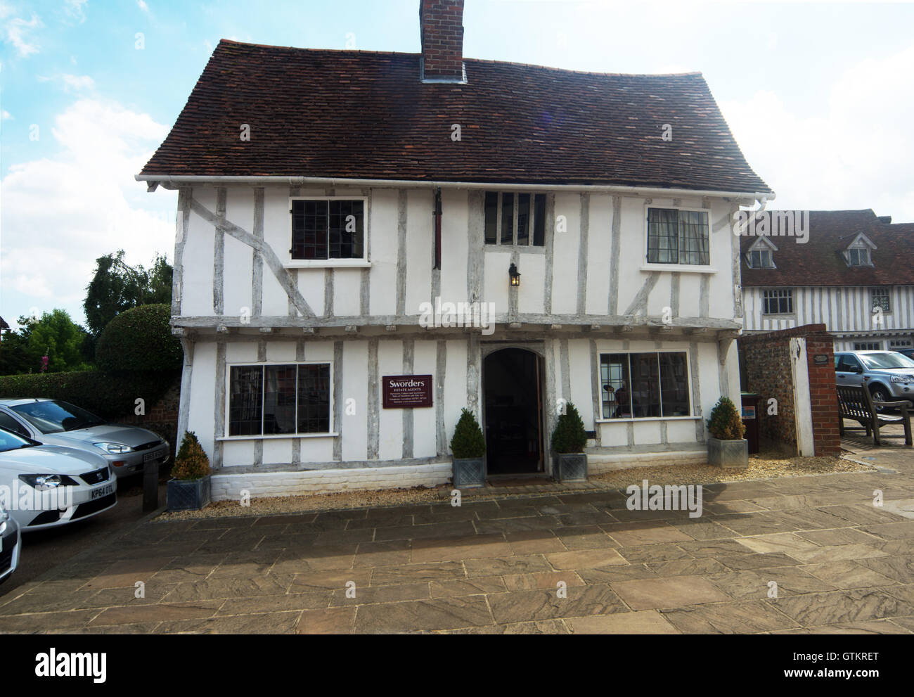 Lavenham, Building, Timber Framed Building Market Place, Suffolk Stock Photo