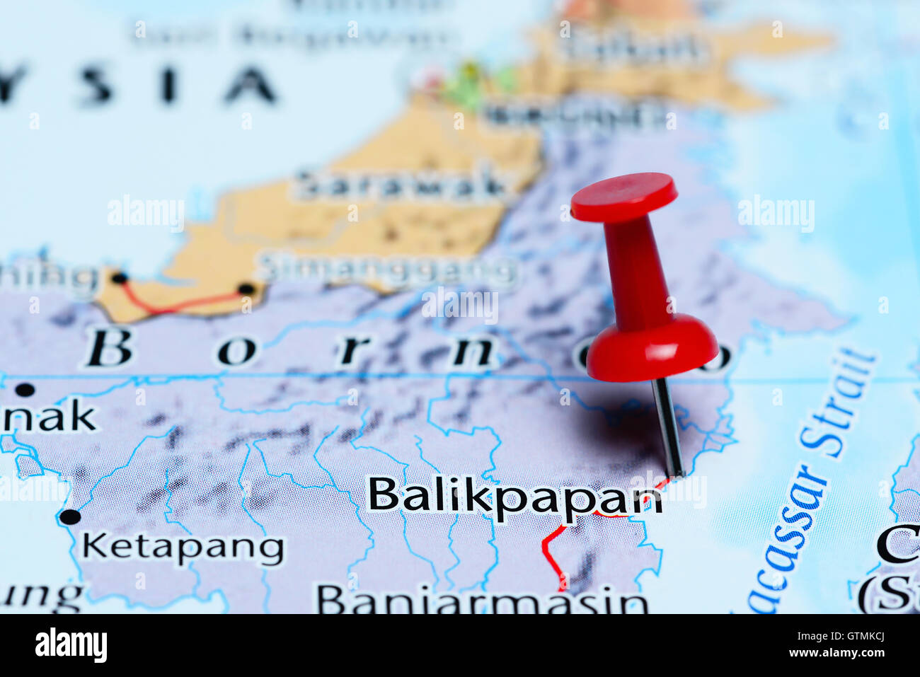 Balikpapan pinned on a map of indonesia stock photo 118468242 alamy balikpapan pinned on a map of indonesia gumiabroncs Choice Image