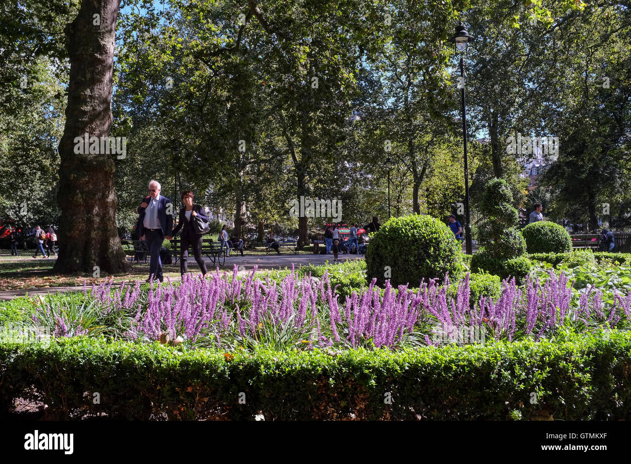 Russell Square, Bloomsbury, London - Stock Image