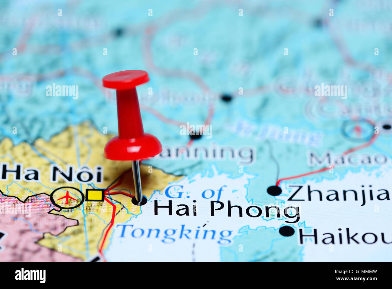Hai Phong Pinned On A Map Of Vietnam Stock Photo 118469257 Alamy