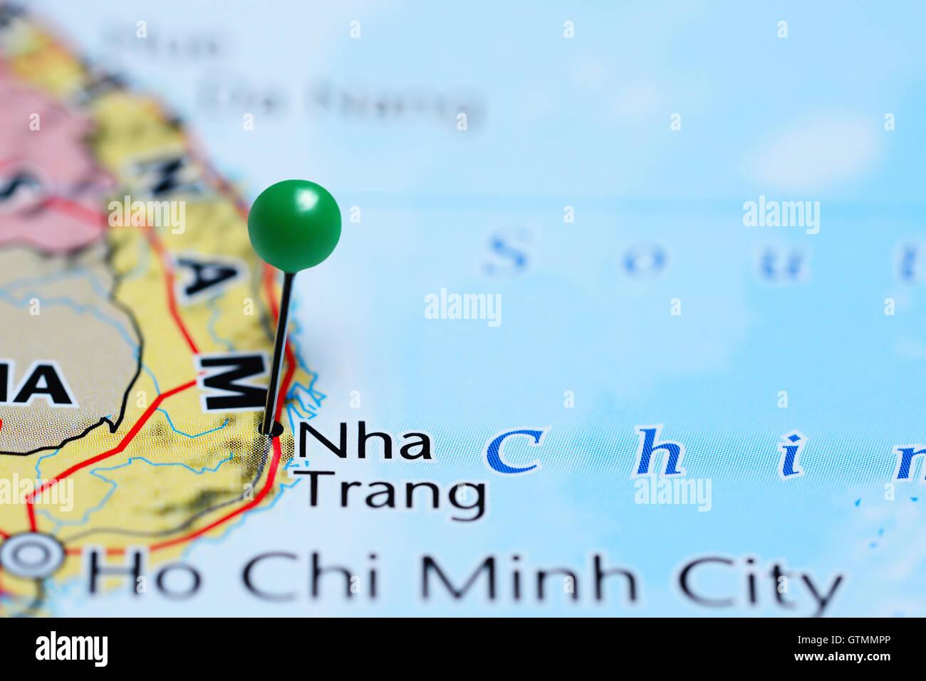 Nha Trang Vietnam Map.Nha Trang Pinned On A Map Of Vietnam Stock Photo 118469310 Alamy
