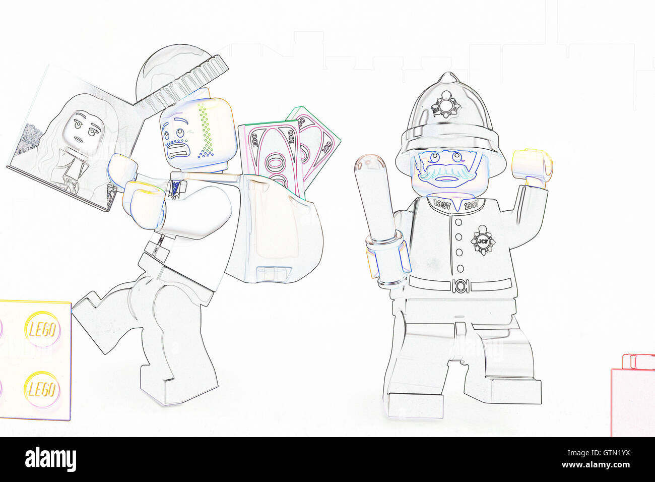 Line Art Figures : Lego figures stock photos images alamy