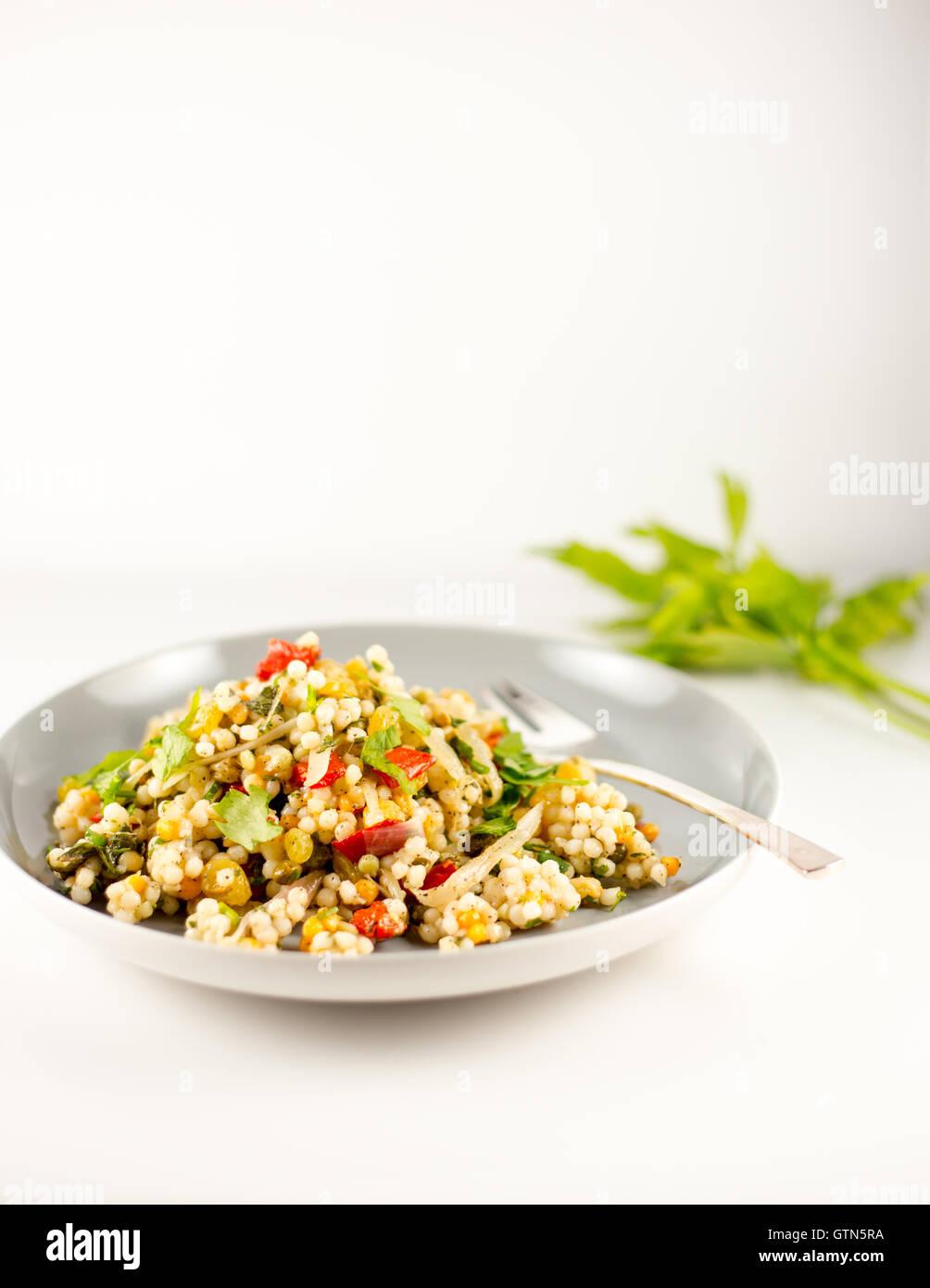 Vegetable couscous - Stock Image