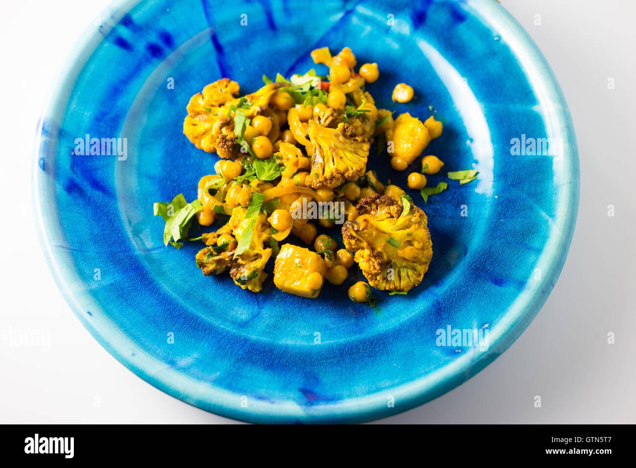 Roast cauliflower salad - Stock Image