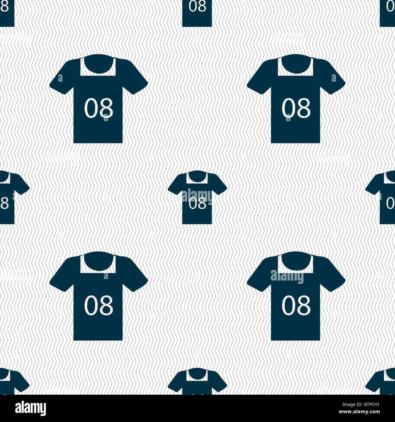 T Shirt Icon Sign Seamless Pattern Stock Photos & T Shirt
