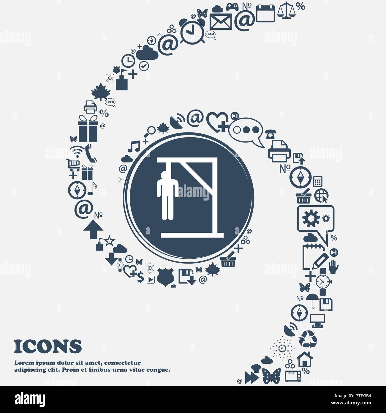 Suicide Concept Icon In The Center Around The Many Beautiful