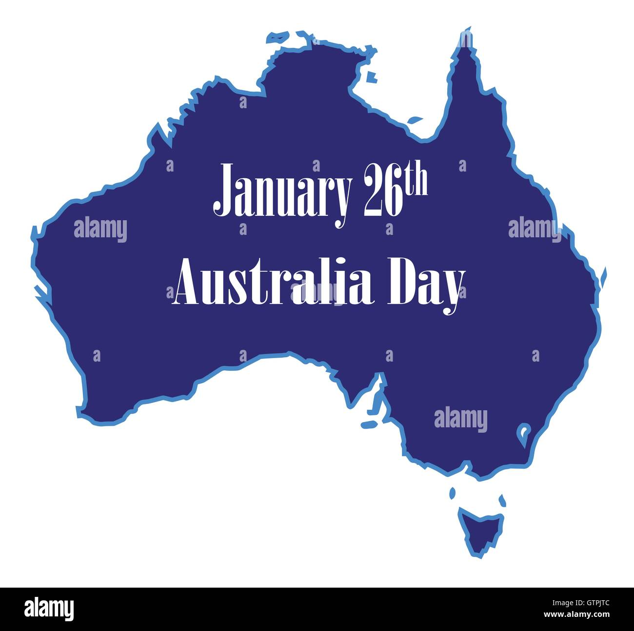 Map Of Australia 26th Parallel.Outline Map Of Australia Over A White Background And Australia Date