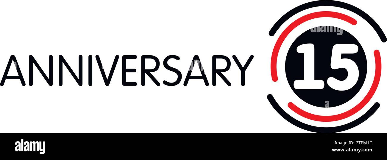 15th Anniversary Stock Vector Images Alamy