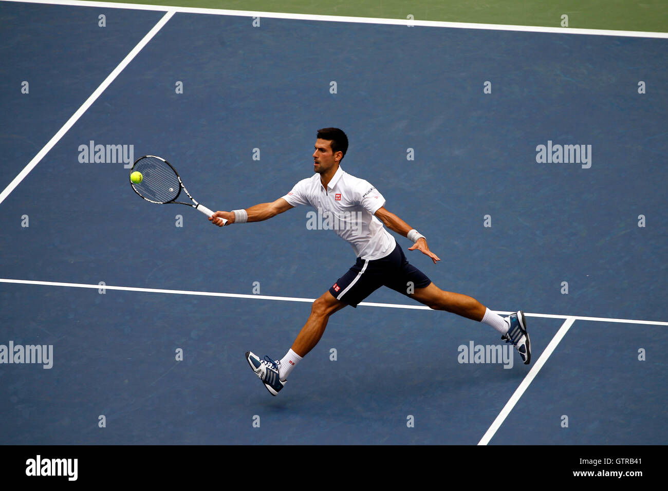 New York, United States. 09th Sep, 2016. Novak Djokovic during his semi final match against Gael Monfils of France - Stock Image
