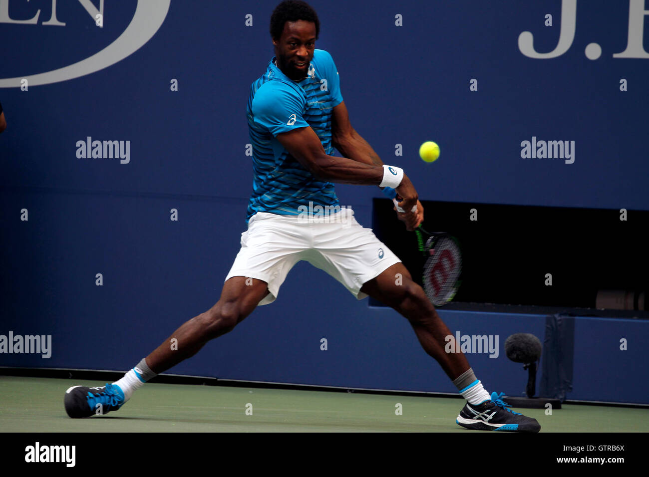 New York, United States. 09th Sep, 2016. Gael Monfils of France during his semi final match against Novak Djokovic - Stock Image