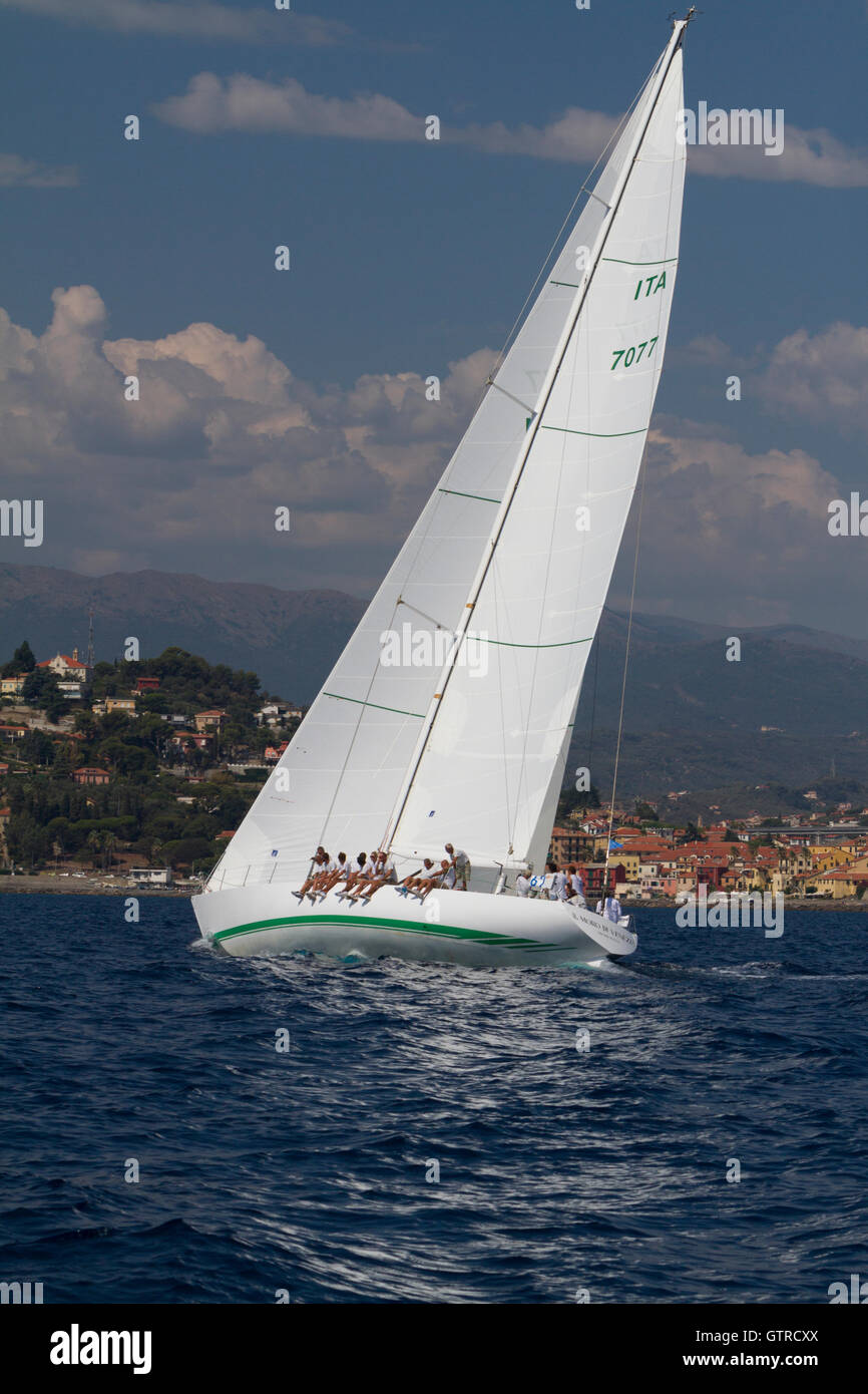 "Imperia, Italy. 9th Sep, 2016. The yacht Il Moro di Venezia"" sailing Stock  Photo - Alamy"