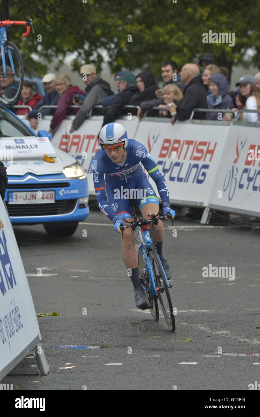 Bristol, UK. 10th Sep, 2016. September 10th 2016.Time Trials against the clock, Riders start at one minute intervals - Stock Image