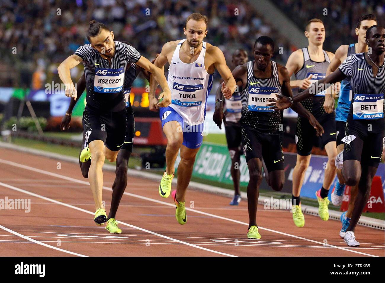 Brussels, Belgium. 09th Sep, 2016. IAAF Diamond League Memorial Van Damme meeting. Kszczot Adam © Action Plus - Stock Image