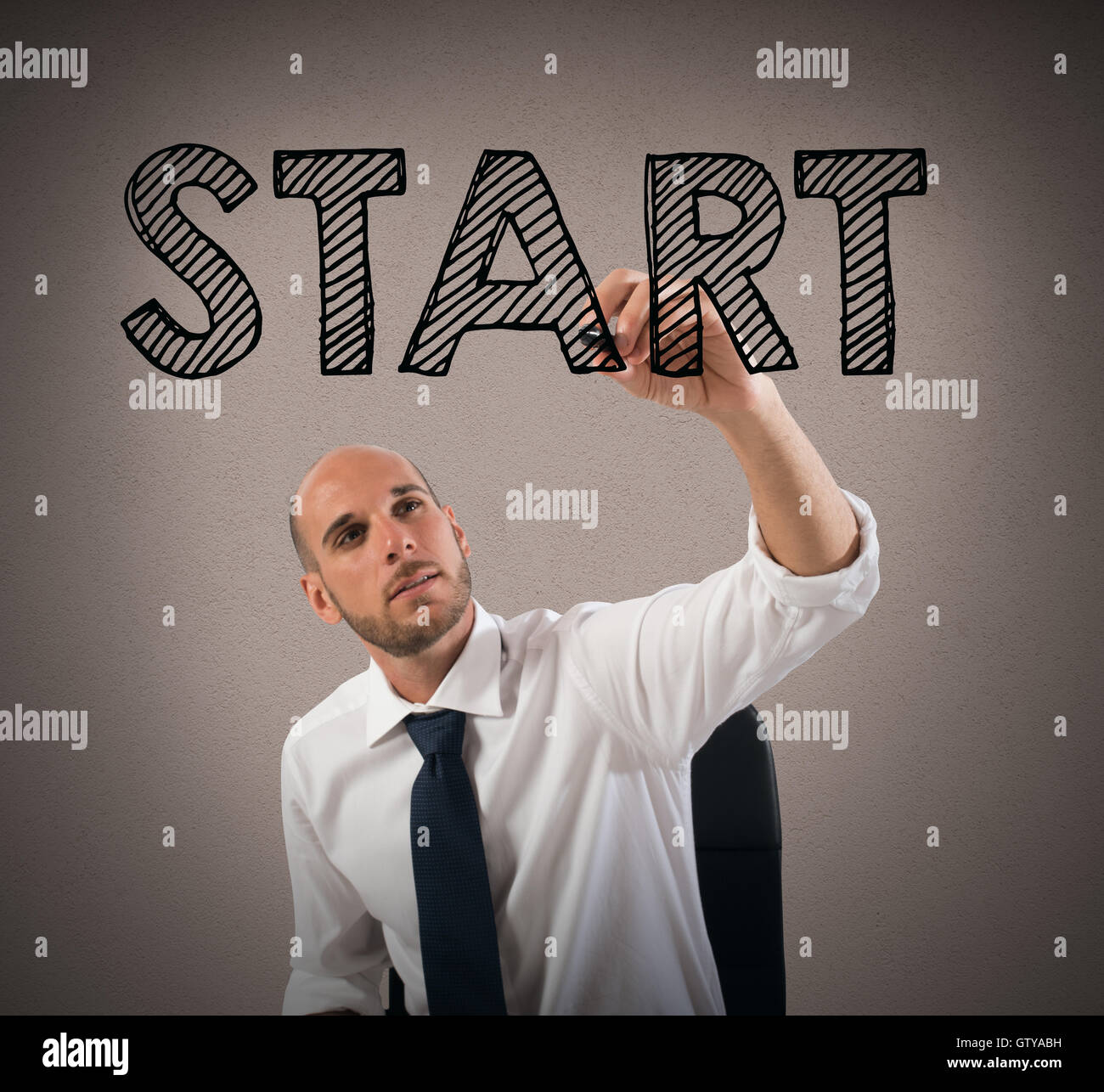 Start a business sucessful career - Stock Image