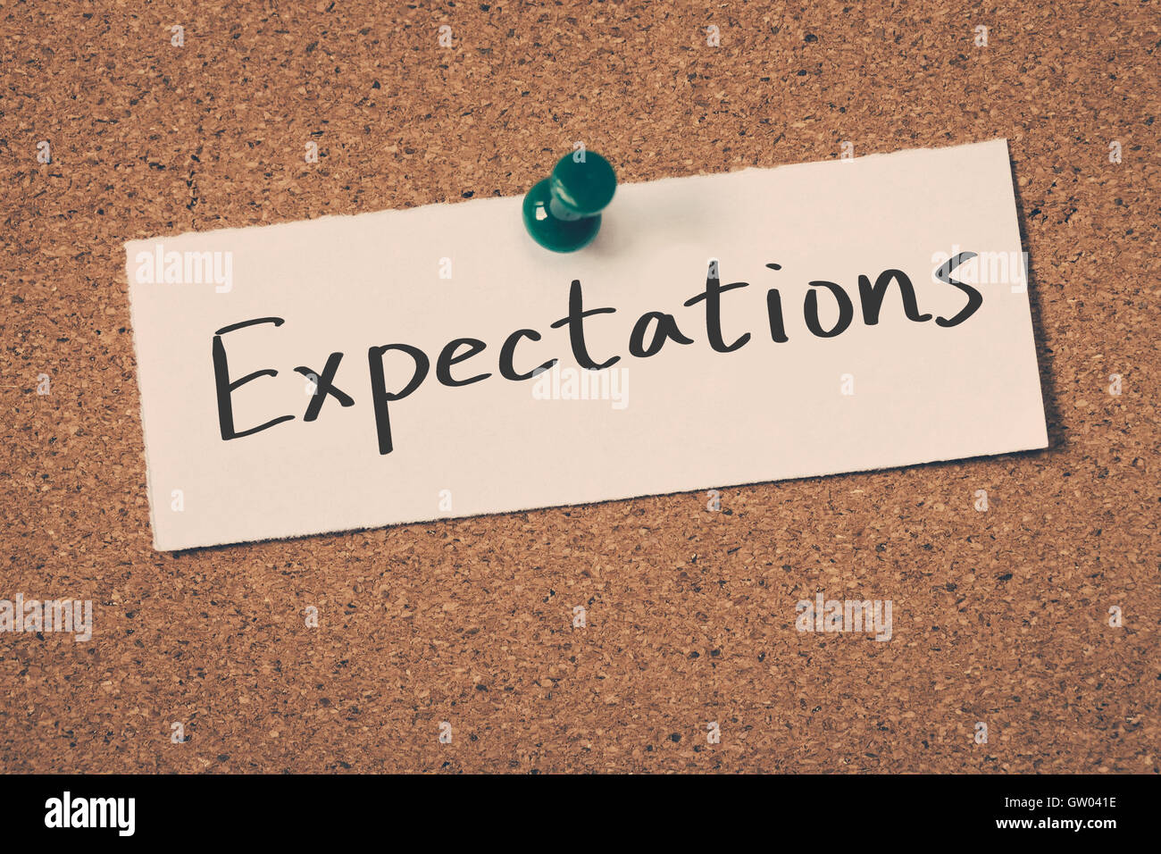 Expectations - Stock Image