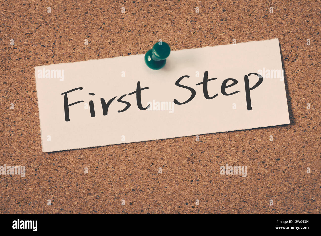 First Step - Stock Image