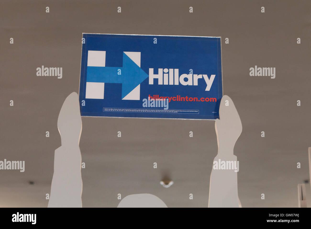 HIllary for America placard - USA - Stock Image