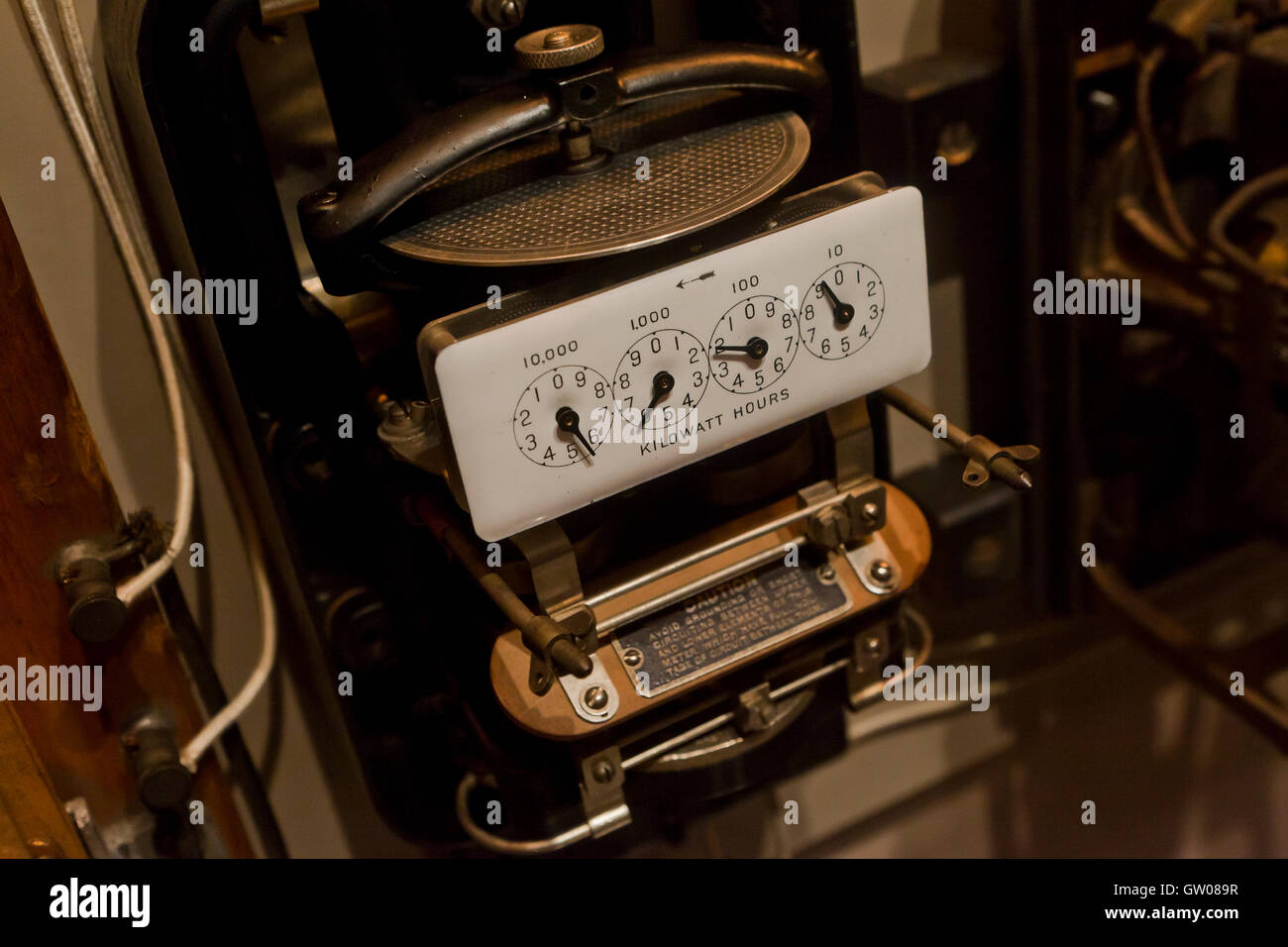 Electric Meter Stock Photos Images Alamy Electrical Wiring Residential Usa Vintage Image