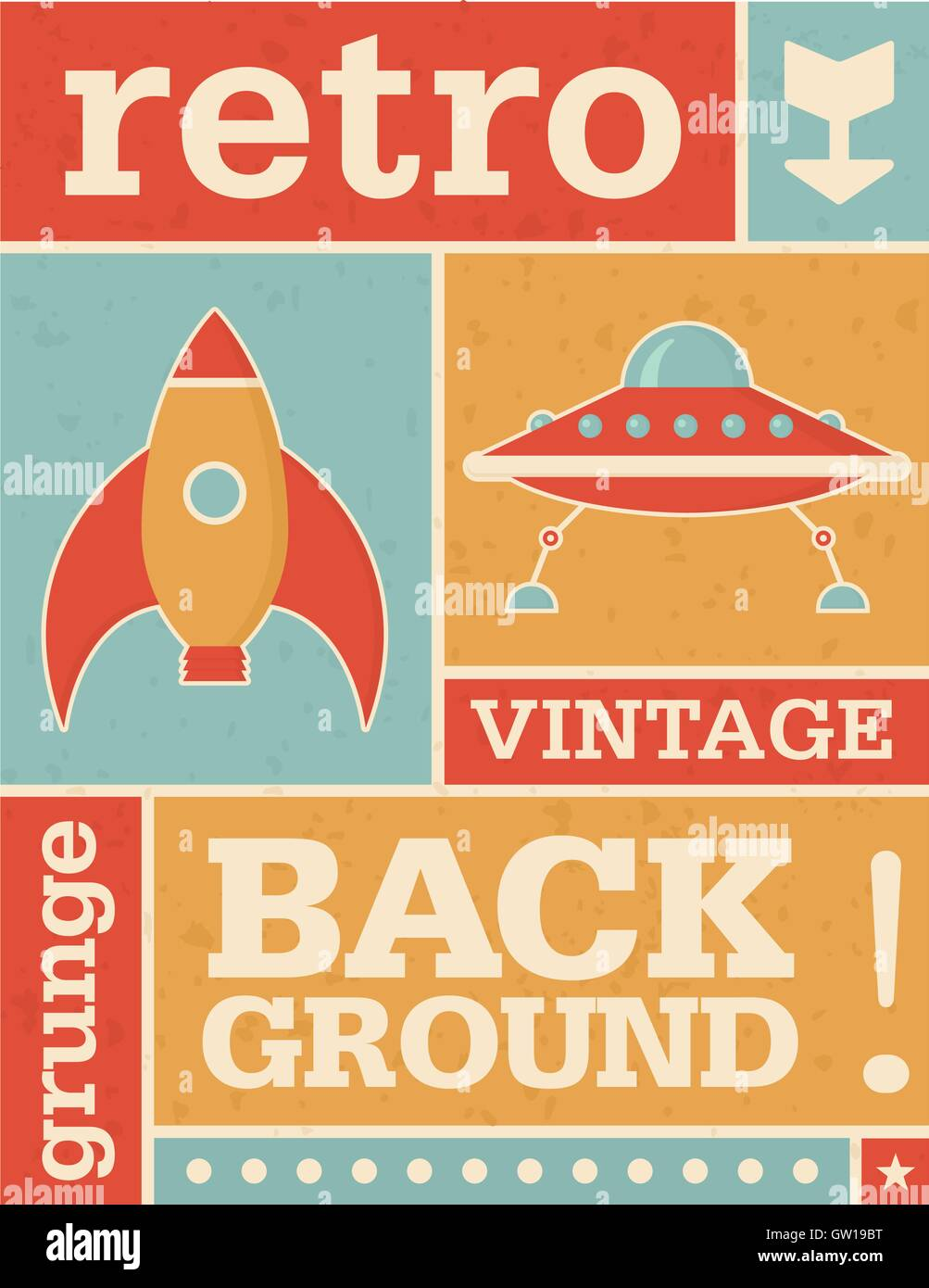 retro grunge background template for invitations ads etc includes