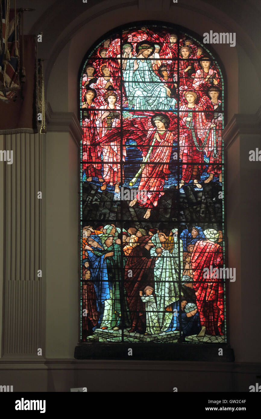 stained glass window at st philip's cathedral birmingham - Stock Image