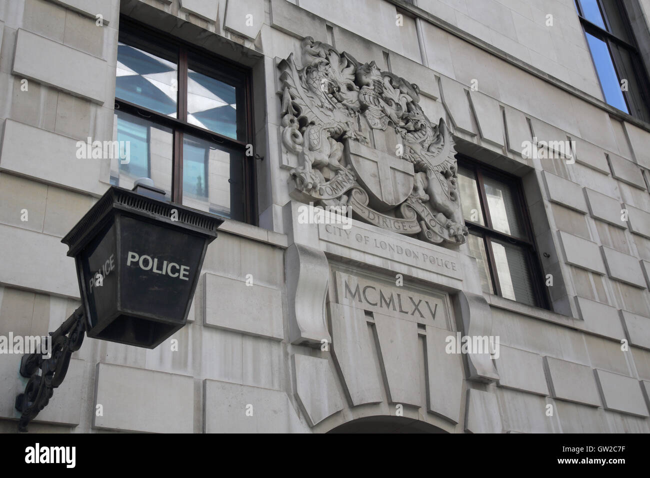 love lane police station in the city of london - Stock Image