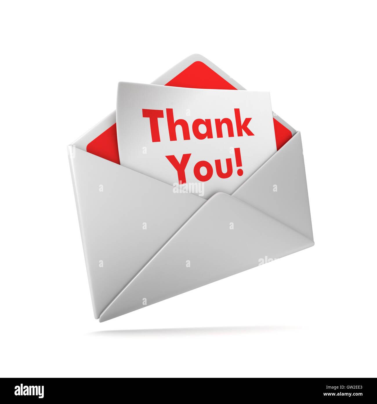 thank you envelope 3d illustration stock photo 118683883 alamy