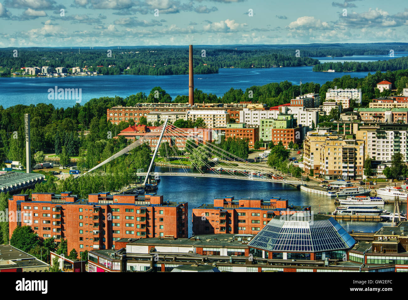 July 2016, urban capture of Tampere (Finland) - Stock Image
