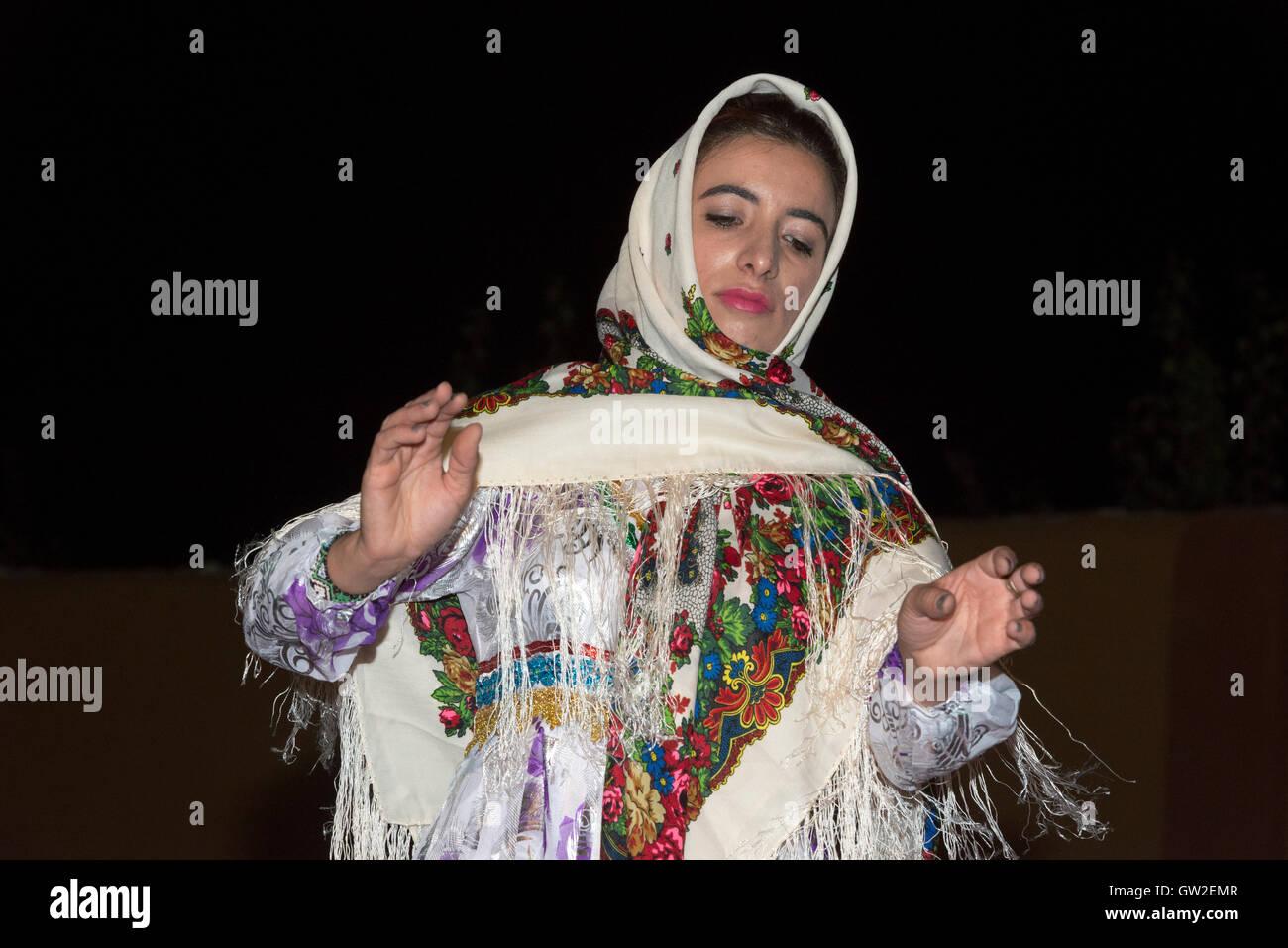 Bojnourd (Bojnurd), Kurdish Wedding, Lady Dancing In Traditional ...
