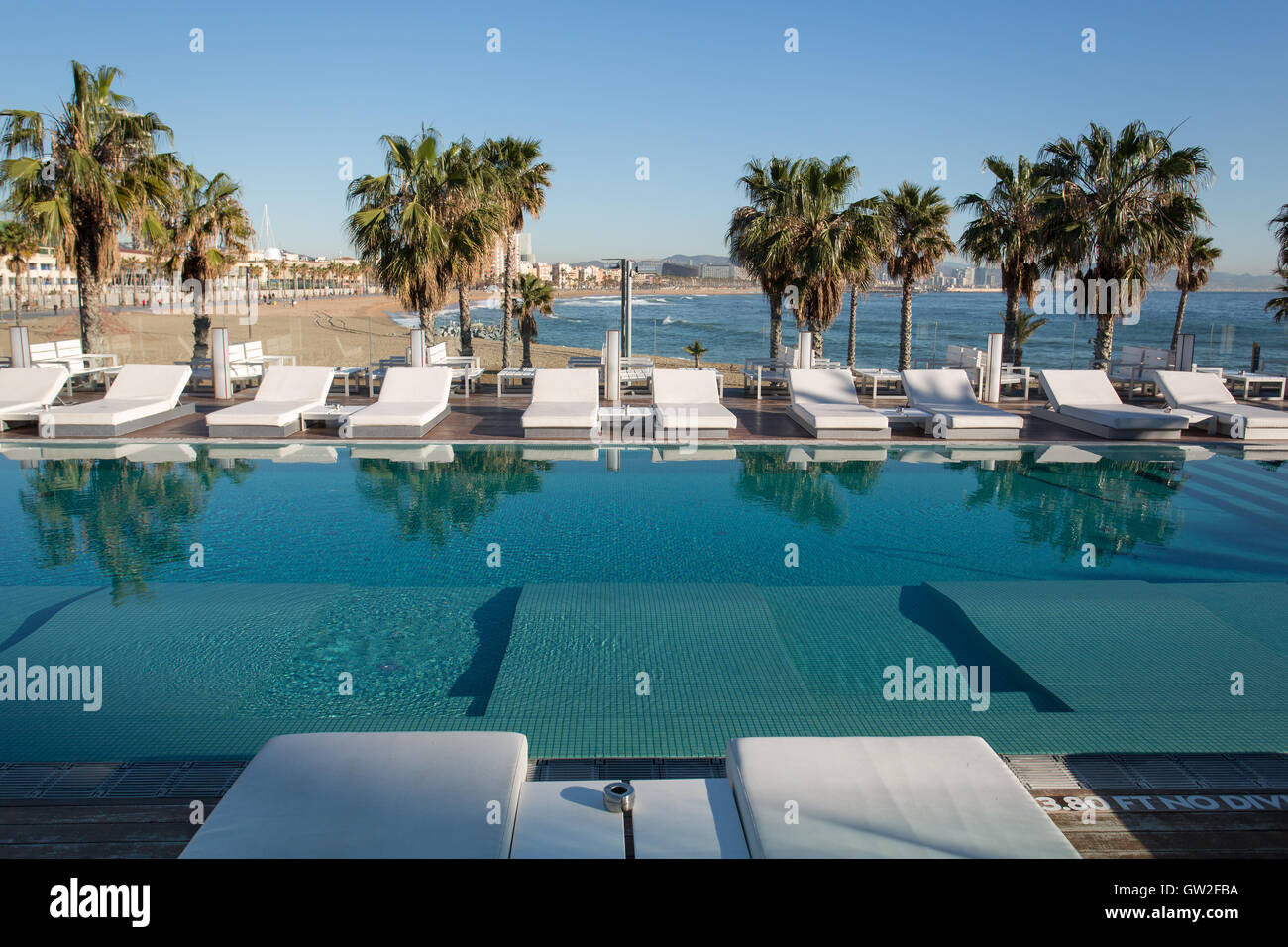 The Pool At The W Hotel Barcelona Spain Stock Photo 118684590 Alamy