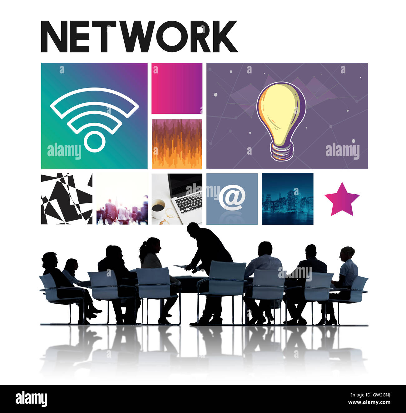 Network Technology Cyberspace Concept - Stock Image