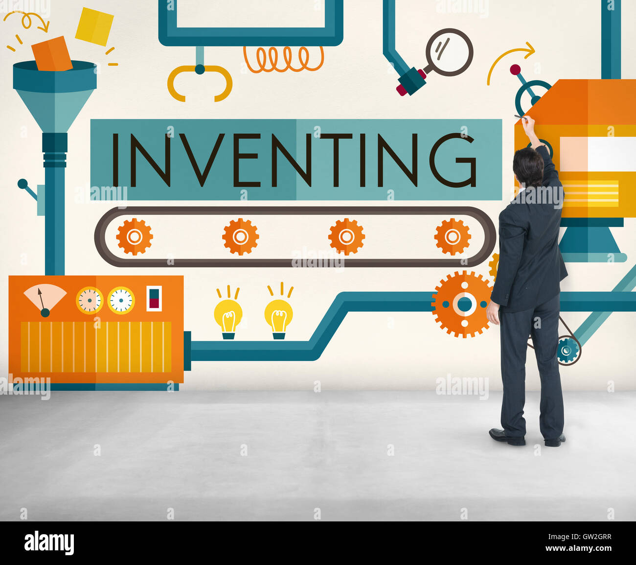 Inventing Compose Discover Production Concept - Stock Image