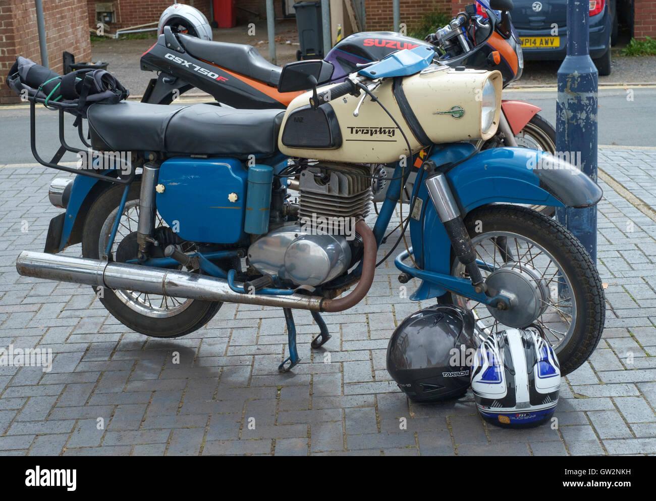 mz 250 es trophy motorcycle stock photo 118689525 alamy. Black Bedroom Furniture Sets. Home Design Ideas
