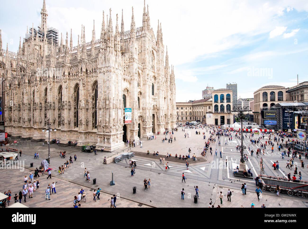 Duomo in Milan city - Stock Image