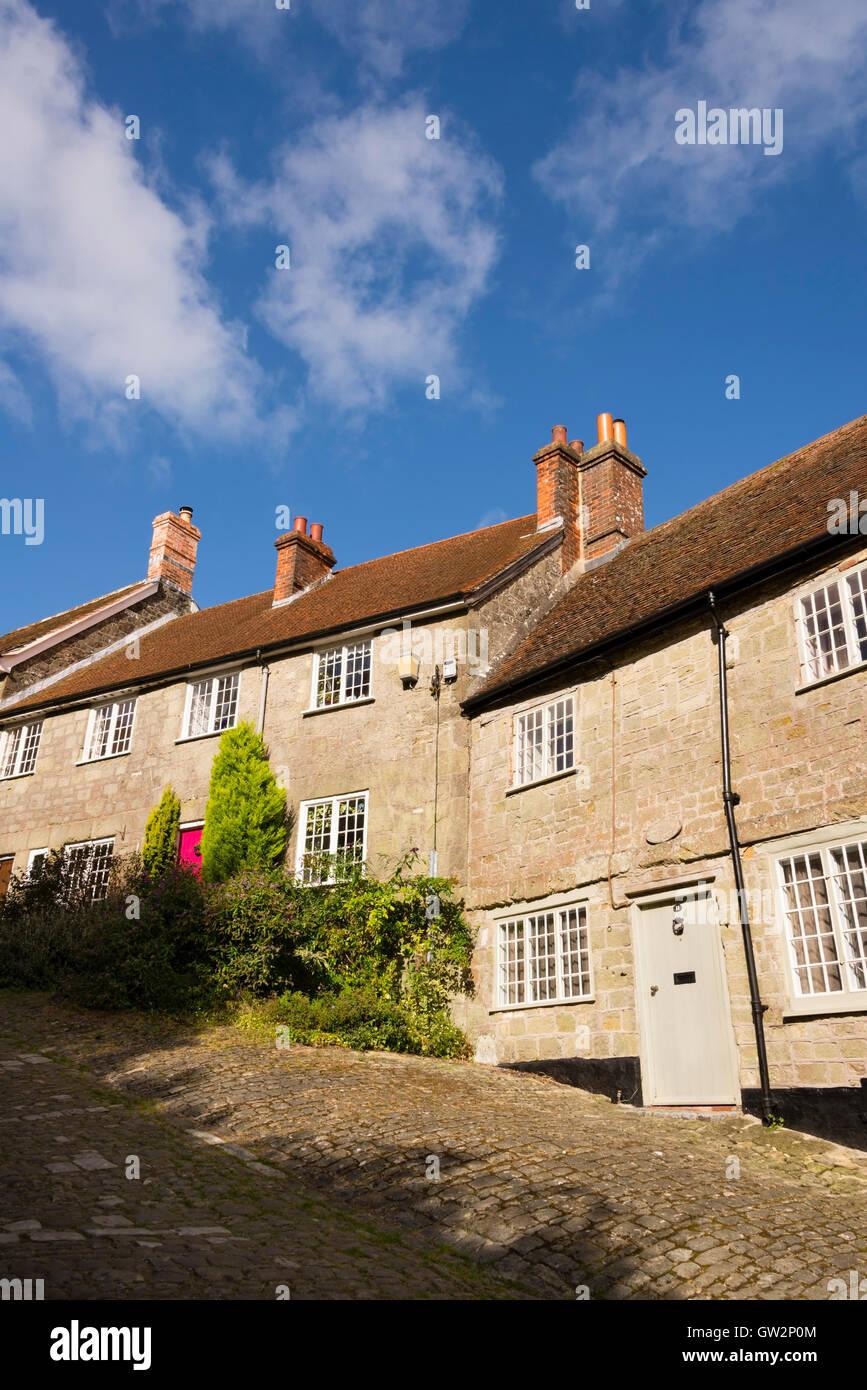 Gold Hill, Shaftesbury, Dorset, England, UK. - Stock Image
