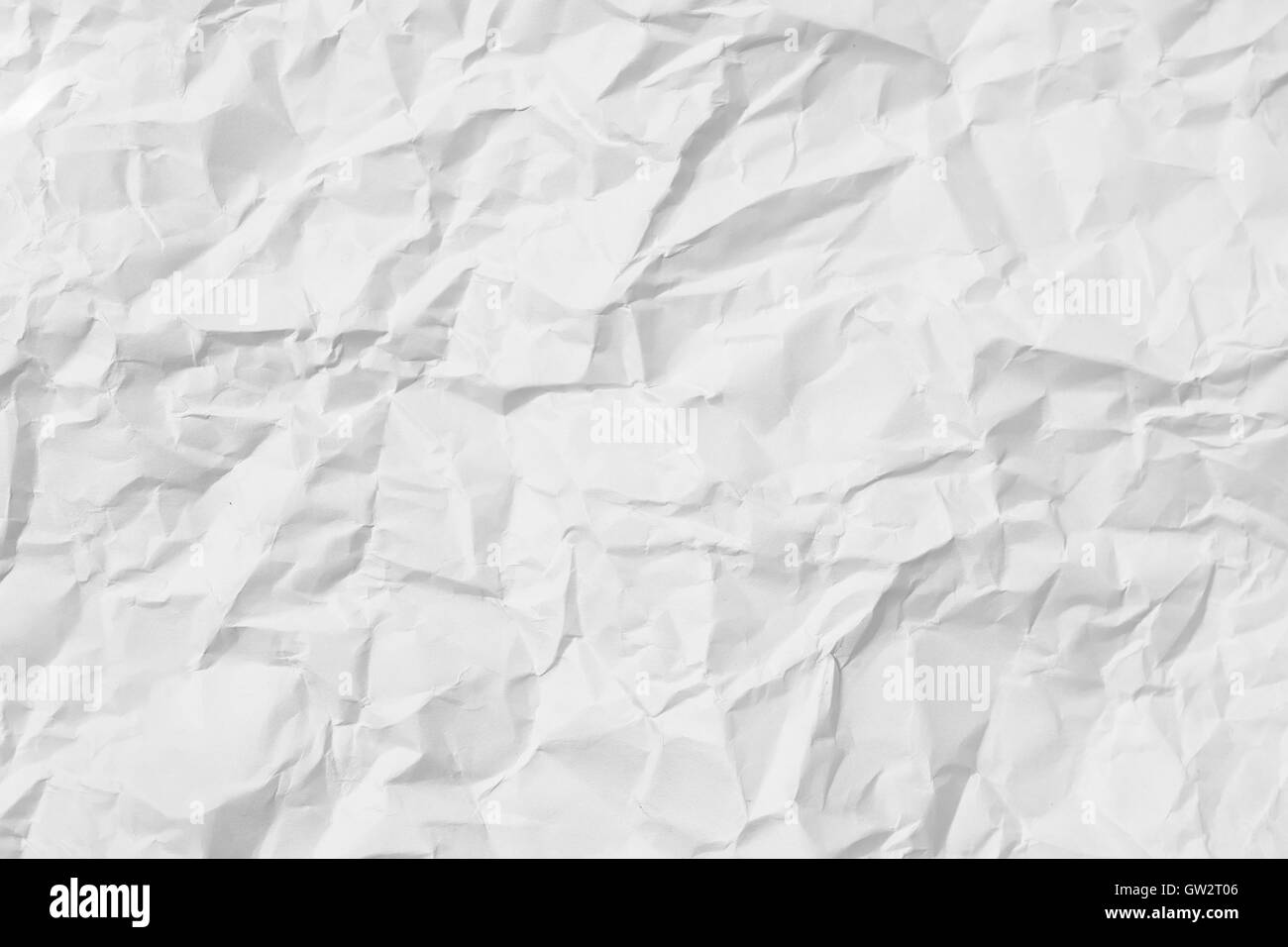White crumpled paper for background image - Stock Image