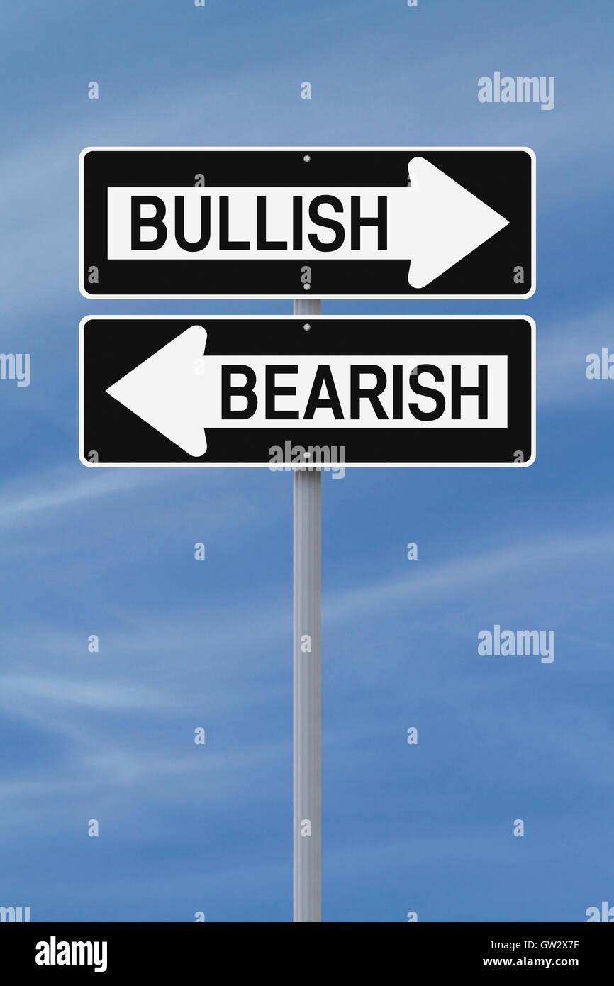 Bullish or Bearish Stock Photo
