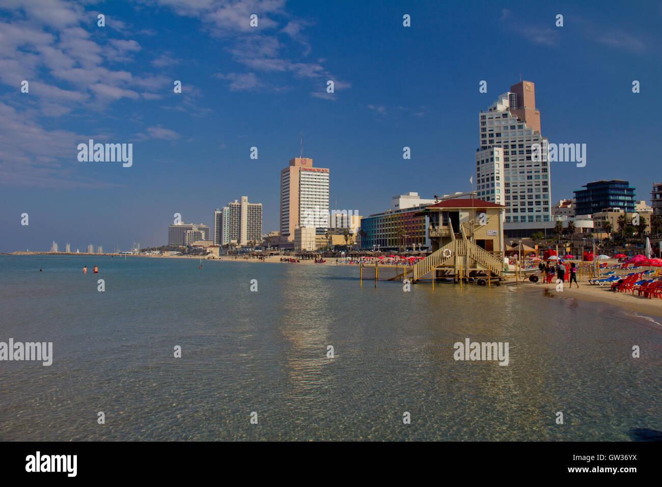 Beach in Tel Aviv Israel - Stock Image